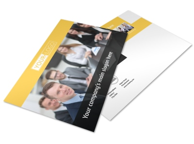Project Management Consulting Firm Postcard Template preview
