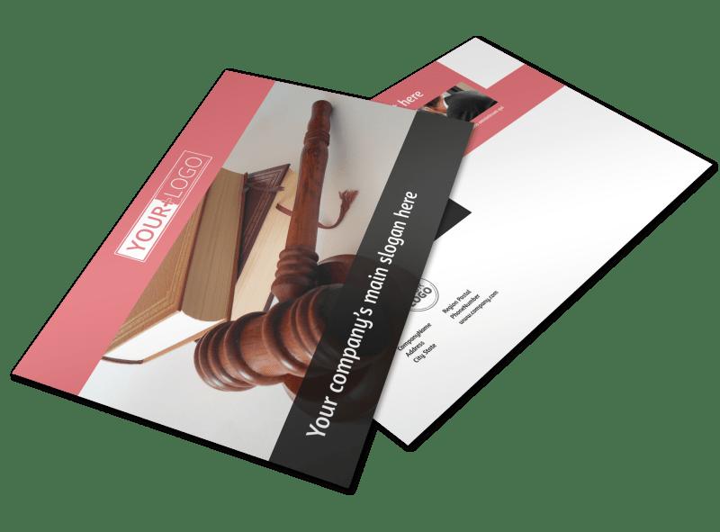 Litigation & Transactional Law Firms Postcard Template Preview 1