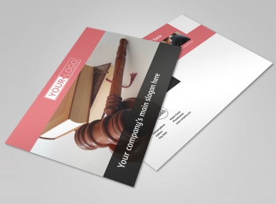 Litigation & Transactional Law Firms Postcard Template preview