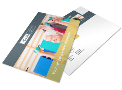 Physiotherapy Postcard Template preview