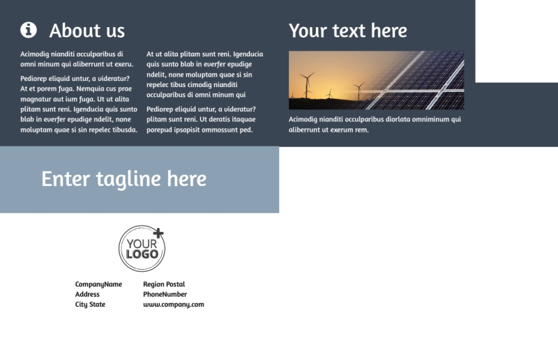 Energy Conservation Consultants Postcard Template Preview 3
