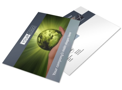 Energy Conservation Consultants Postcard Template preview