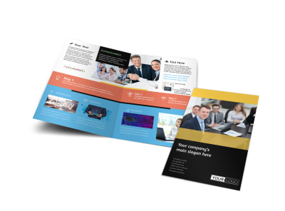 Project Management Consulting Firm Bi-Fold Brochure Template preview