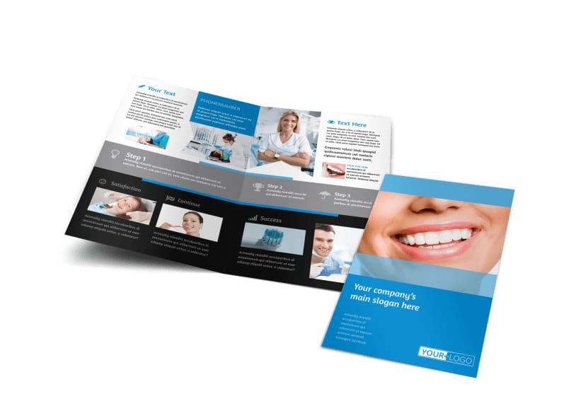 Best Smile Dental Care Bi-Fold Brochure Template