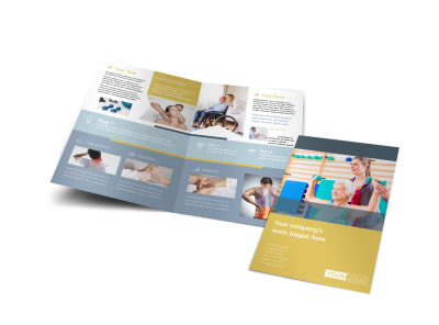 Physiotherapy Bi-Fold Brochure Template