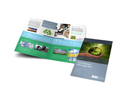Energy Conservation Consultants Bi-Fold Brochure Template