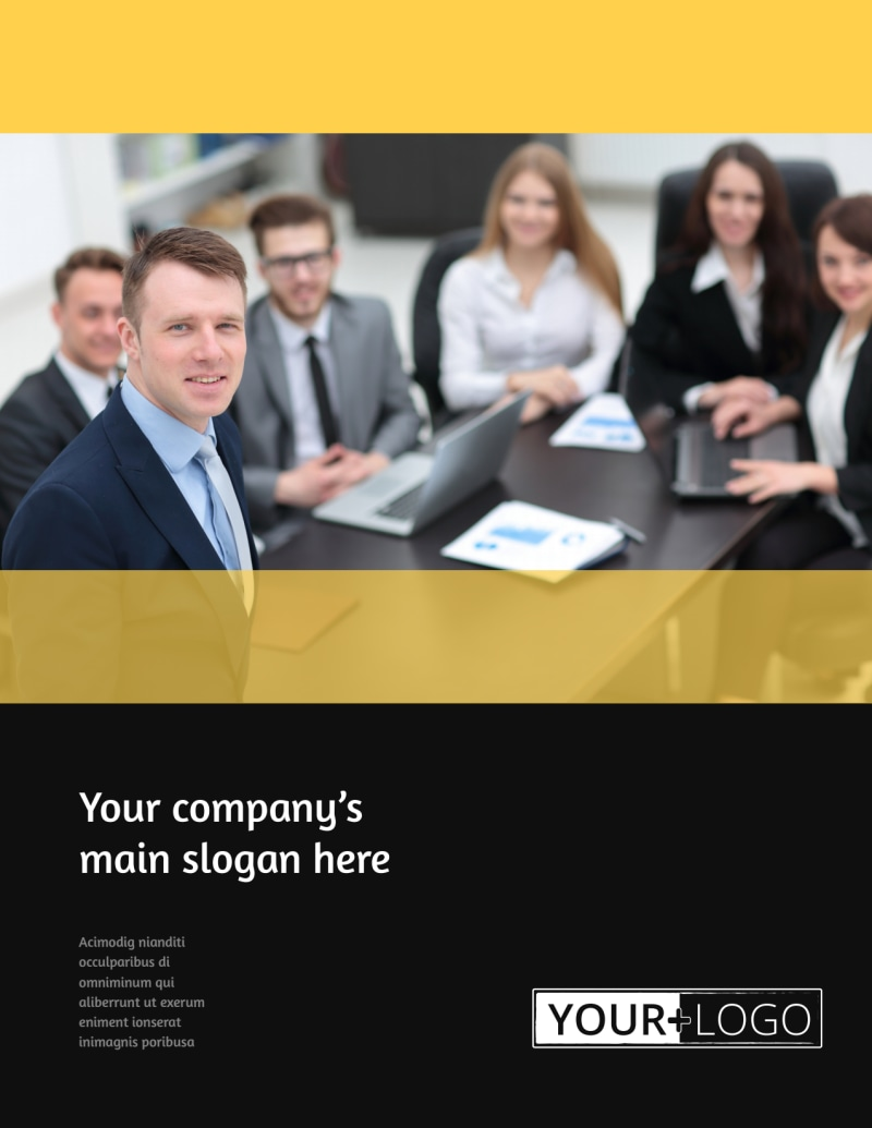 Project Management Consulting Firm Flyer Template Preview 2