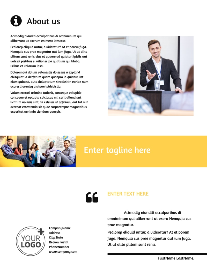 Project Management Consulting Firm Flyer Template Preview 3