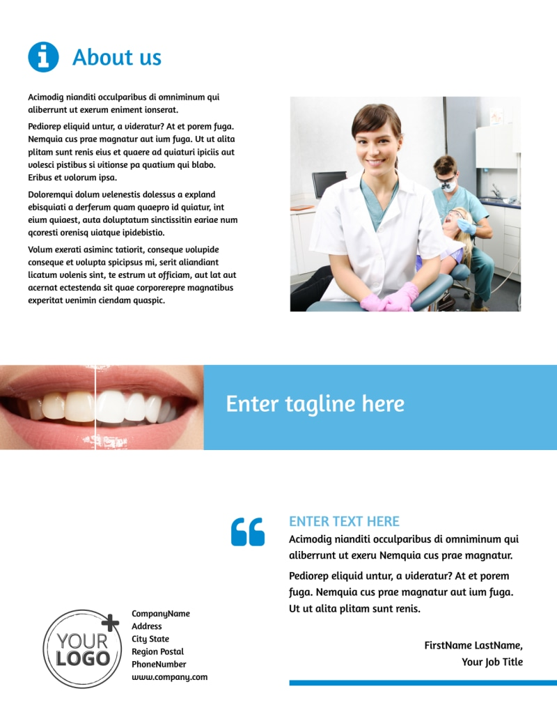 Best Smile Dental Care Flyer Template Preview 3