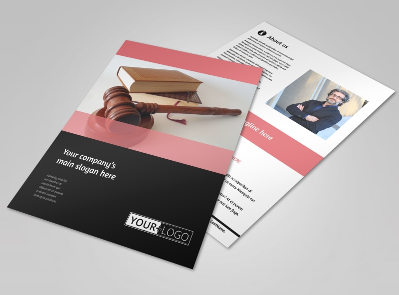 Litigation & Transactional Law Firms Flyer Template Preview 4