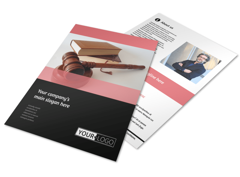 Litigation & Transactional Law Firms Flyer Template Preview 1