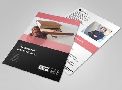 Litigation & Transactional Law Firms Flyer Template