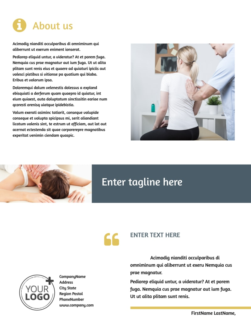 Physiotherapy Flyer Template Preview 3