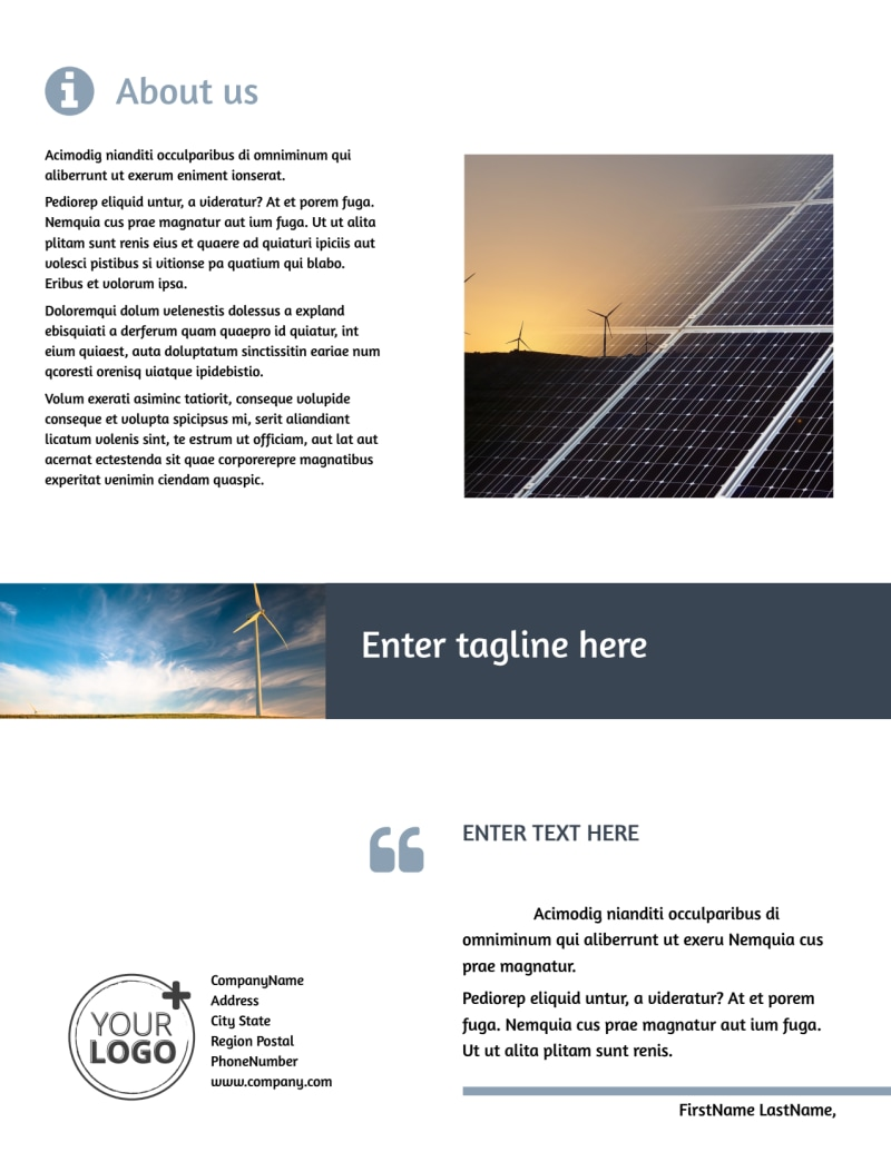 Energy Conservation Consultants Flyer Template Preview 3