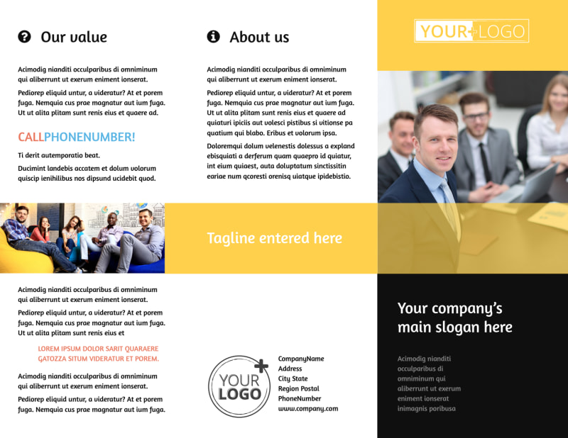 Project Management Consulting Firm Brochure Template Preview 2