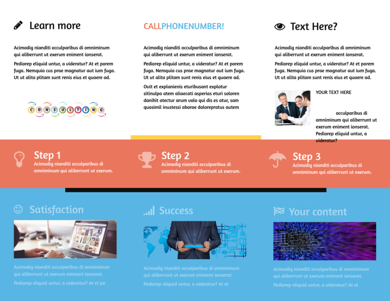 Project Management Consulting Firm Brochure Template Preview 3