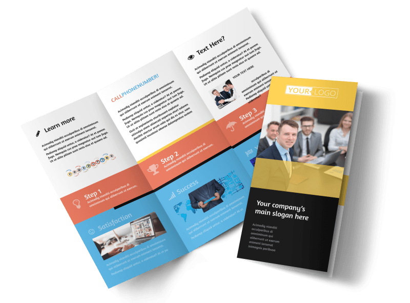 Project Management Consulting Firm Brochure Template Preview 1