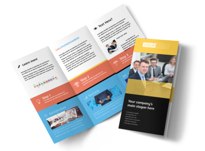Project Management Consulting Firm Tri-Fold Brochure Template preview