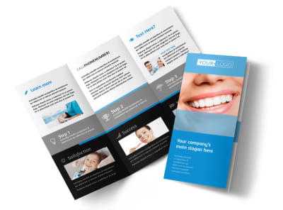 Best Smile Dental Care Tri-Fold Brochure Template preview