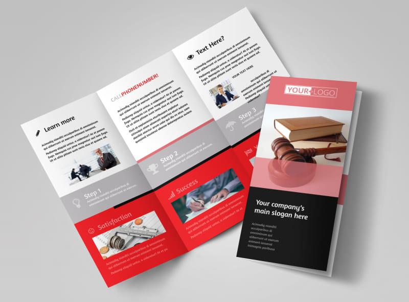 Litigation & Transactional Law Firms Tri-Fold Brochure Template