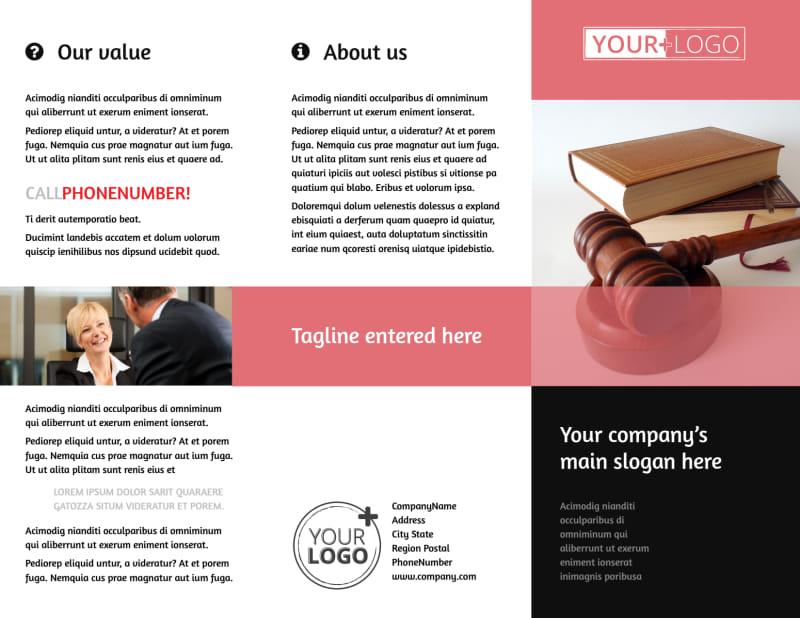 Litigation & Transactional Law Firms Brochure Template Preview 2