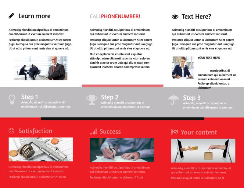 Litigation & Transactional Law Firms Brochure Template Preview 3