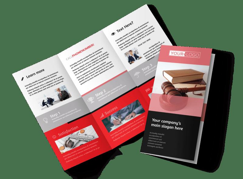 Litigation & Transactional Law Firms Brochure Template Preview 1