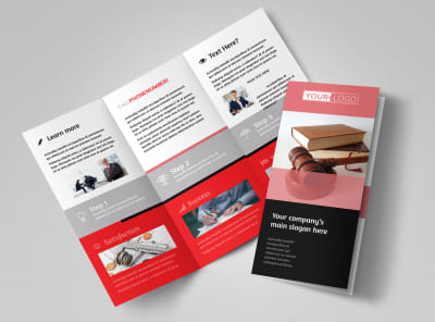 Litigation & Transactional Law Firms Tri-Fold Brochure Template preview