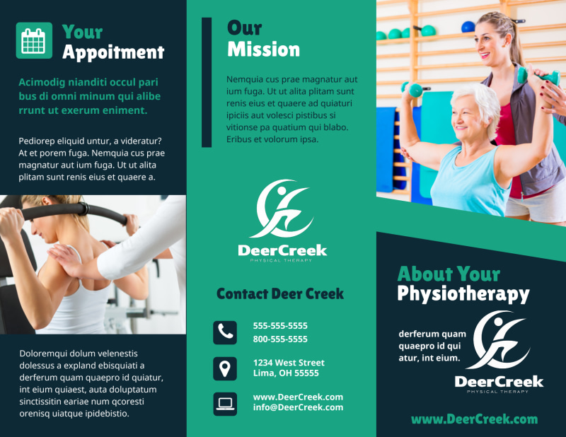Physiotherapy Brochure Template Preview 2