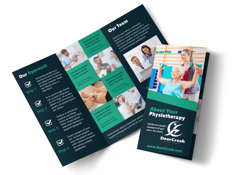 Physiotherapy Brochure Template Preview 1