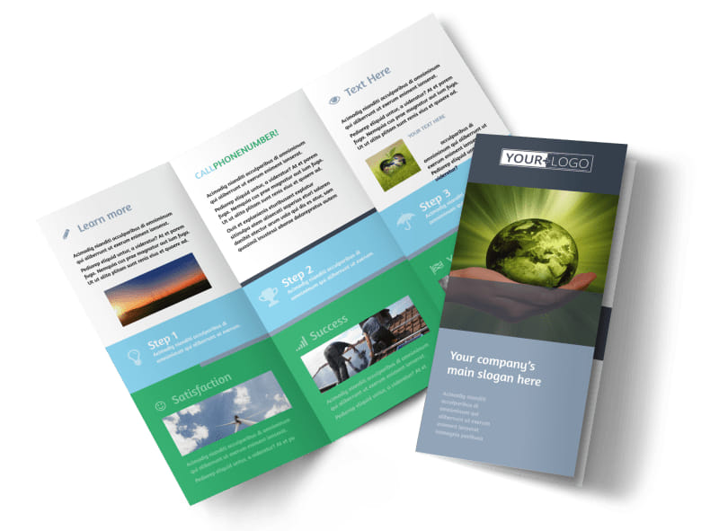 Energy Conservation Consultants Tri-Fold Brochure Template