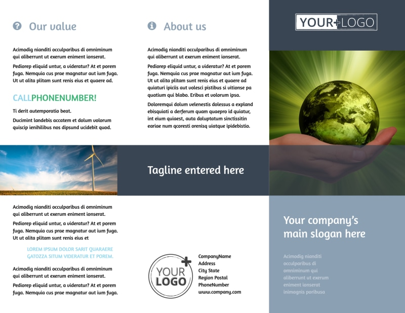 Energy Conservation Consultants Brochure Template Preview 2