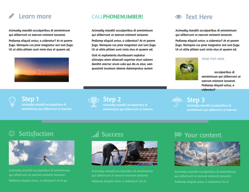 Energy Conservation Consultants Brochure Template Preview 3