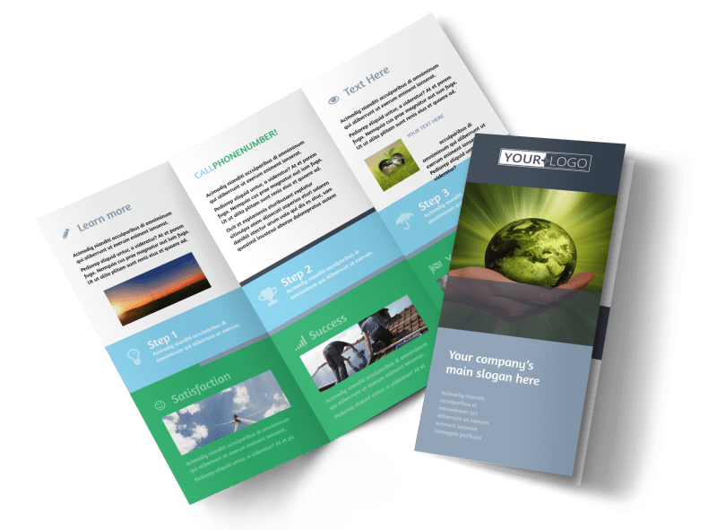 Energy Conservation Consultants Brochure Template Preview 1