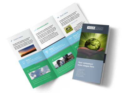 Energy Conservation Consultants Tri-Fold Brochure Template preview