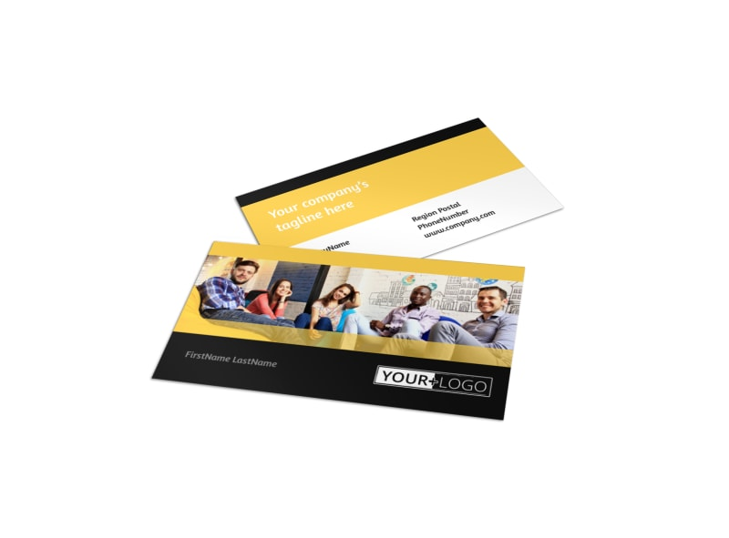 Project Management Consulting Firm Business Card Template - Templates business card