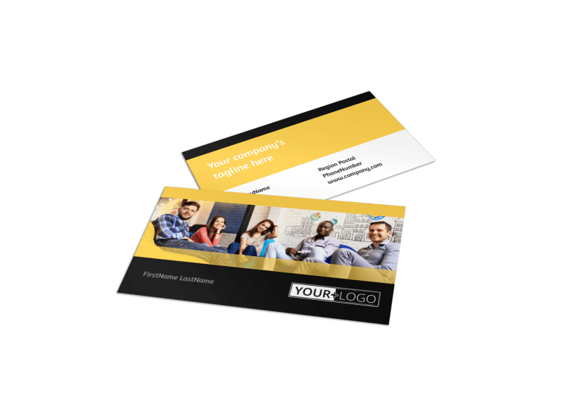 Project Management Consulting Firm Business Card Template Preview 1