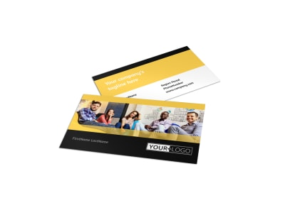 Project Management Consulting Firm Business Card Template
