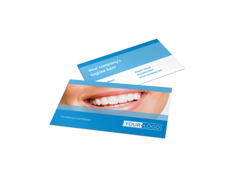 Best Smile Dental Care Business Card Template Preview 4
