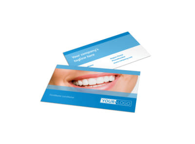 Best Smile Dental Care Business Card Template preview