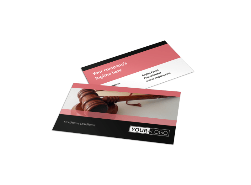 Litigation & Transactional Law Firms Business Card Template Preview 1
