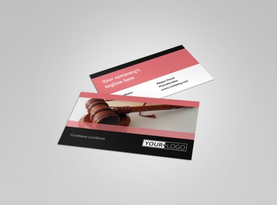 Litigation & Transactional Law Firms Business Card Template preview