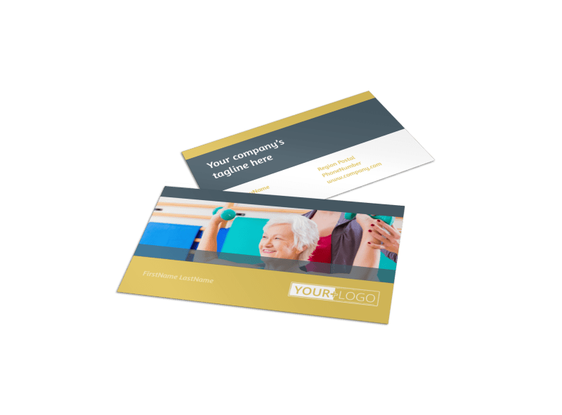 Physiotherapy Business Card Template Preview 1