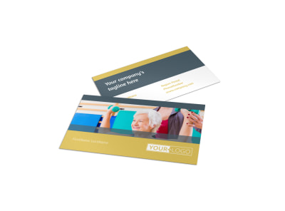Physiotherapy Business Card Template preview