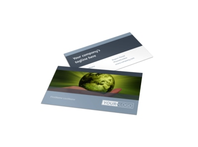 Energy Conservation Consultants Business Card Template preview