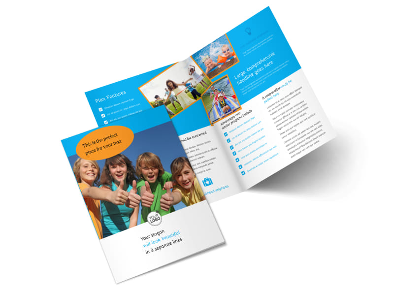 Summer Camps Bi-Fold Brochure Template 2