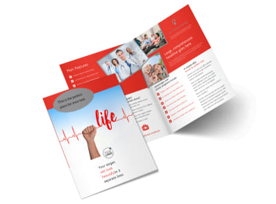 Blood Donation Centers Bi-Fold Brochure Template 2