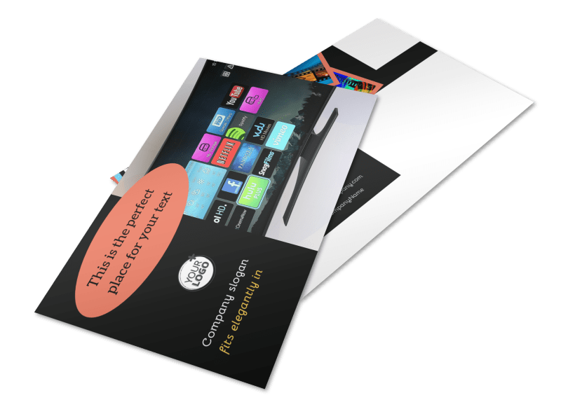 DVD Video Production Postcard Template Preview 1