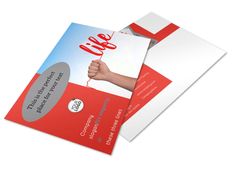 Blood Donation Centers Postcard Template 2