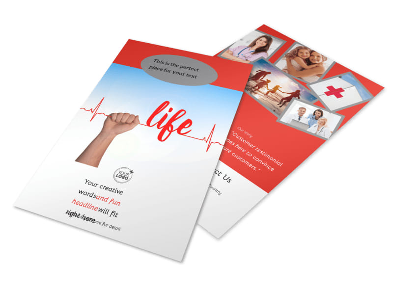 Blood Donation Centers Flyer Template 3